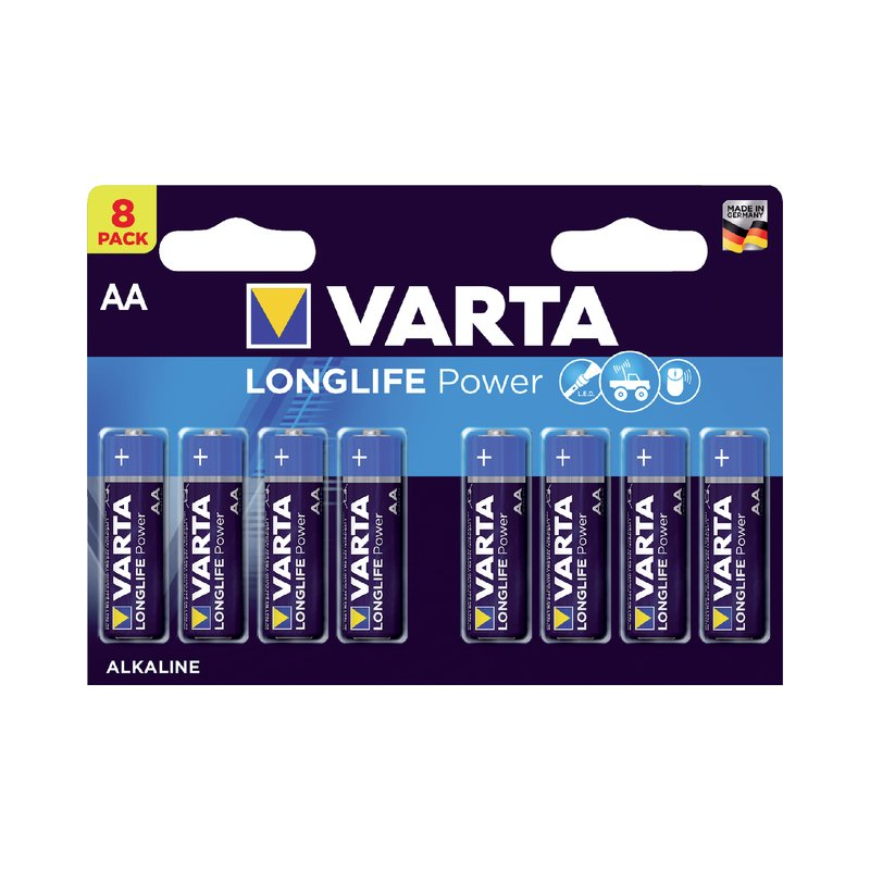 Batterij Varta high energy 8xAA