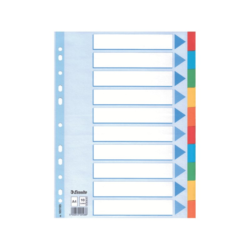 Esselte Multicoloured Card Divider (100193)