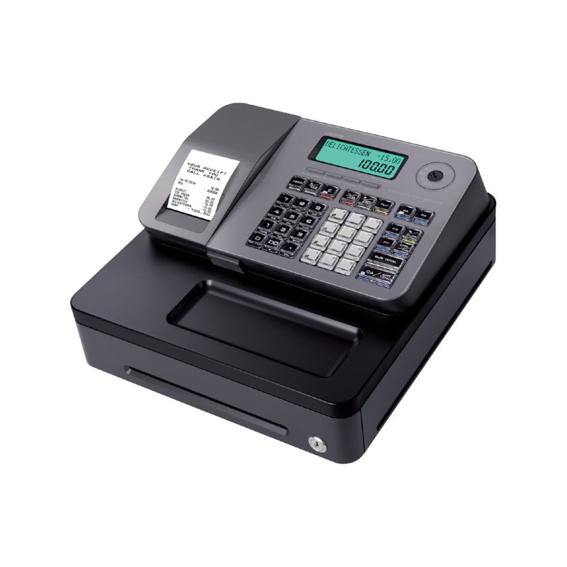 CR SE-S100 (Alpha-numeric ECR-SD card compatible-Thermal printer-12 departments-2000 articles-2-line