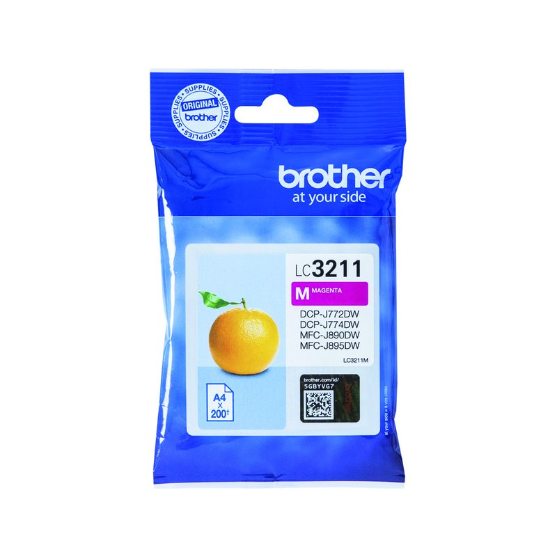 Brother LC-3211M 200pagina's Magenta inktcartridge
