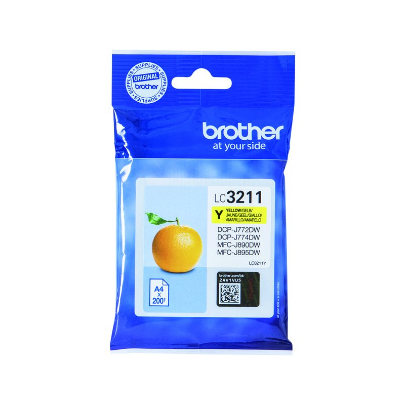 Brother LC-3211Y 200pagina's Geel inktcartridge