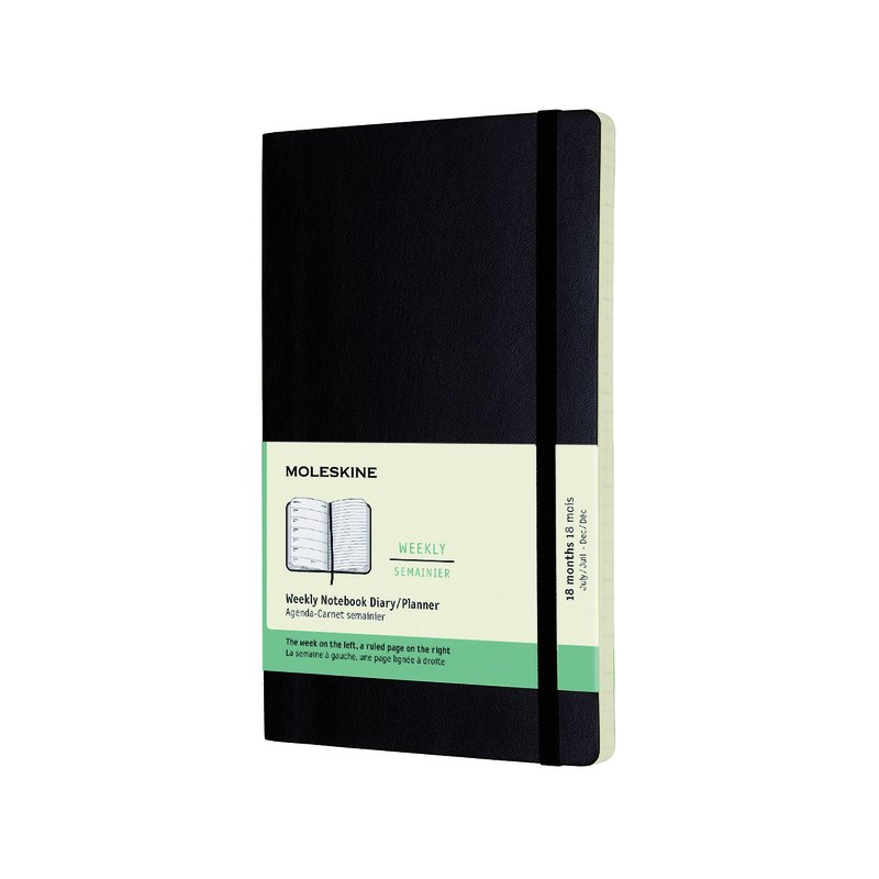 Moleskine 18 maanden 2017-2018 Weekagenda Large Softcover